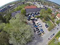 Luftbild der Unterkunft des THW-Ortsverbands München-West aus dem Jahre 2014.